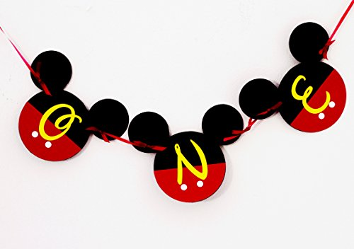 Mickey Mouse 1st Birthday Banner | ONE Birthday Banner | Happy Birthday  Banner | Mickey mouse birthday Banner | Disney Banner | Club House 1st
